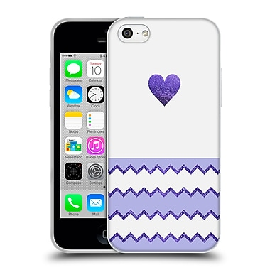 Official Monika Strigel Avalon Heart Lilac Soft Gel Case For Apple Iphone 5C