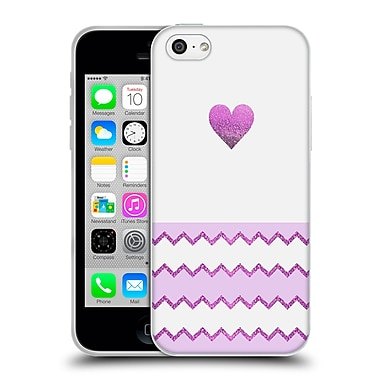 Official Monika Strigel Avalon Heart Purple Soft Gel Case For Apple Iphone 5C