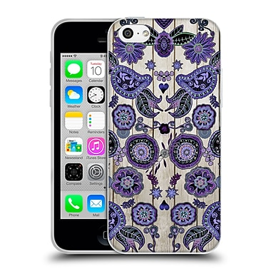 Official Monika Strigel Bring Me Flowers 3 Dark Purple Soft Gel Case For Apple Iphone 5C