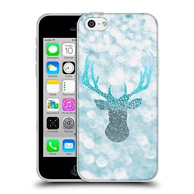 Official Monika Strigel Champagne Glitters 1 Deer Aqua Soft Gel Case For Apple Iphone 5C