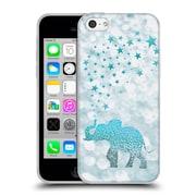 Official Monika Strigel Champagne Glitters 1 Happy Elephant Aqua Soft Gel Case For Apple Iphone 5C