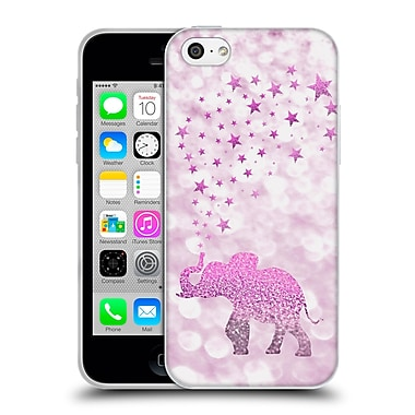 Official Monika Strigel Champagne Glitters 1 Happy Elephant Pink Soft Gel Case For Apple Iphone 5C