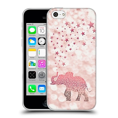 Official Monika Strigel Champagne Glitters 1 Happy Elephant Rose Soft Gel Case For Apple Iphone 5C