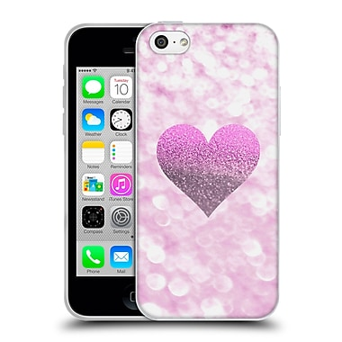 Official Monika Strigel Champagne Glitters 2 Heart Pink Soft Gel Case For Apple Iphone 5C