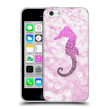 Official Monika Strigel Champagne Glitters 2 Seahorse Pink Soft Gel Case For Apple Iphone 5C