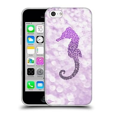 Official Monika Strigel Champagne Glitters 2 Seahorse Purple Soft Gel Case For Apple Iphone 5C