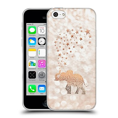 Official Monika Strigel Champagne Gold Happy Elephant Soft Gel Case For Apple Iphone 5C