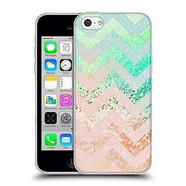 Official Monika Strigel Funky Chevron Crazy Peach Soft Gel Case For Apple Iphone 5C