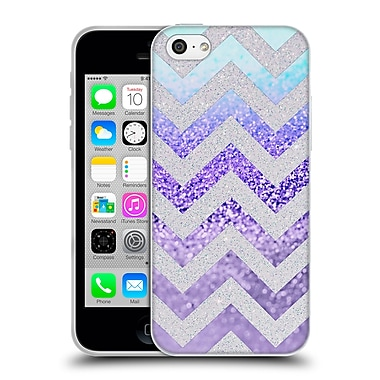 Official Monika Strigel Funky Chevron Plum Soft Gel Case For Apple Iphone 5C