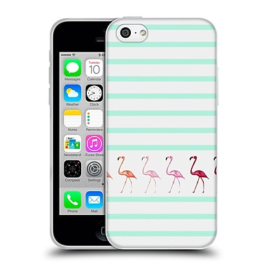 Official Monika Strigel Flamingos And Stripes Mint Soft Gel Case For Apple Iphone 5C