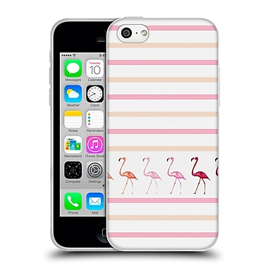 Official Monika Strigel Flamingos And Stripes Pink Duo Soft Gel Case For Apple Iphone 5C