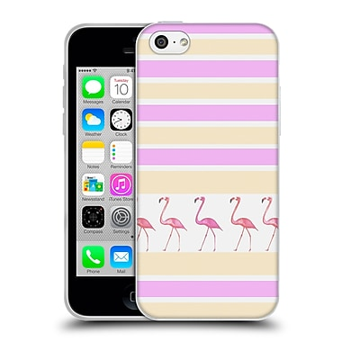 Official Monika Strigel Flamingos And Stripes Pink Soft Gel Case For Apple Iphone 5C