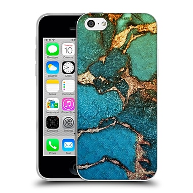 Official Monika Strigel Gemstone And Gold Green Soft Gel Case For Apple Iphone 5C