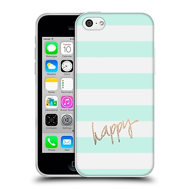 Official Monika Strigel Gold And Happy Stripes Soft Gel Case For Apple Iphone 5C