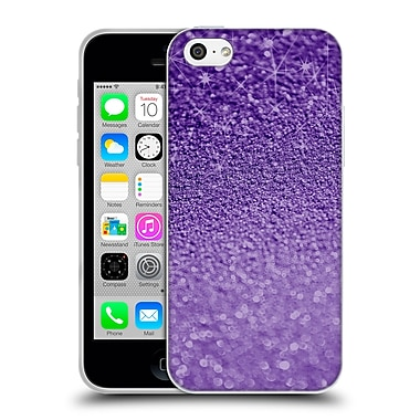 Official Monika Strigel Glitters Purple Soft Gel Case For Apple Iphone 5C