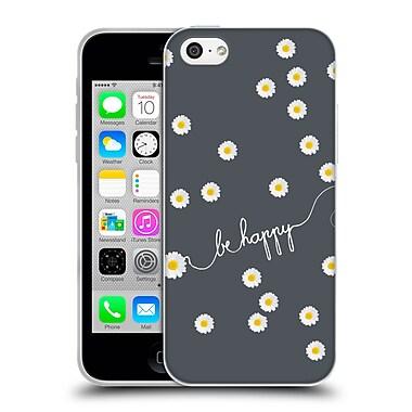Official Monika Strigel Happy Daisy Grey Soft Gel Case For Apple Iphone 5C
