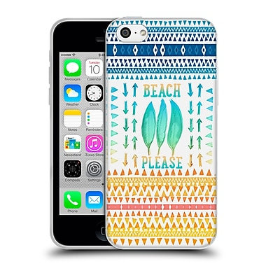 Official Monika Strigel Happy Quote Beach Please Soft Gel Case For Apple Iphone 5C