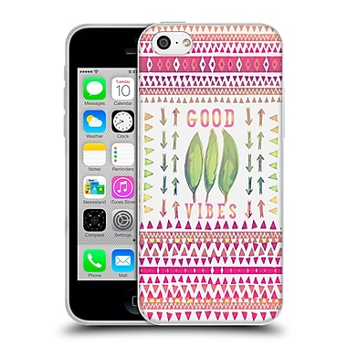 Official Monika Strigel Happy Quote Good Vibes Soft Gel Case For Apple Iphone 5C