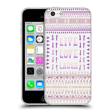 Official Monika Strigel Happy Quote Live Love Laugh Soft Gel Case For Apple Iphone 5C