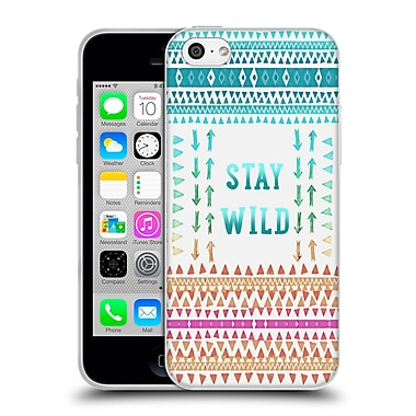 Official Monika Strigel Happy Quote Stay Wild Soft Gel Case For Apple Iphone 5C