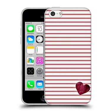 Official Monika Strigel Little Heart Red Soft Gel Case For Apple Iphone 5C