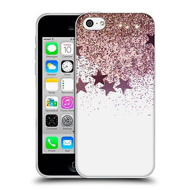 Official Monika Strigel Shaky Stars Gold Pink Mix Soft Gel Case For Apple Iphone 5C
