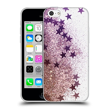 Official Monika Strigel Shaky Stars Gold Pink Soft Gel Case For Apple Iphone 5C