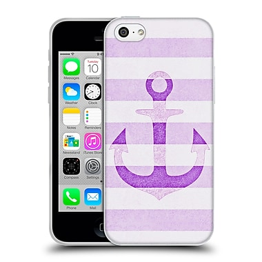 Official Monika Strigel Vintage Anchors Lavender Soft Gel Case For Apple Iphone 5C