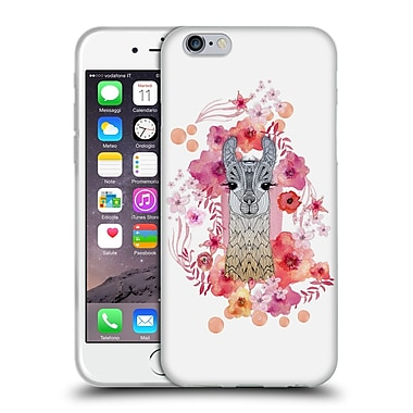 Official Monika Strigel Animals And Flowers Baby Lama Soft Gel Case For Apple Iphone 6 / 6S
