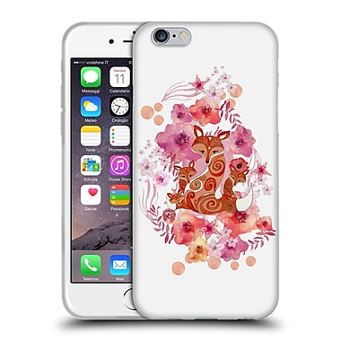 Official Monika Strigel Animals And Flowers Fox Family Soft Gel Case For Apple Iphone 6 / 6S