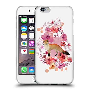 Official Monika Strigel Animals And Flowers Fox Soft Gel Case For Apple Iphone 6 / 6S