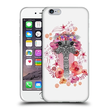Official Monika Strigel Animals And Flowers Ostrich Aztec Soft Gel Case For Apple Iphone 6 / 6S