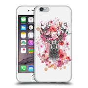 Official Monika Strigel Animals And Flowers Stag Aztec Soft Gel Case For Apple Iphone 6 / 6S