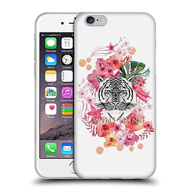 Official Monika Strigel Animals And Flowers Tiger Soft Gel Case For Apple Iphone 6 / 6S