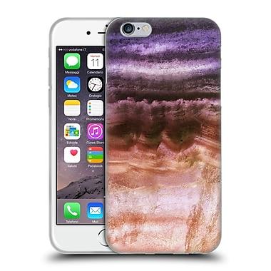 Official Monika Strigel Agate Gemstone Purple Gold Soft Gel Case For Apple Iphone 6 / 6S