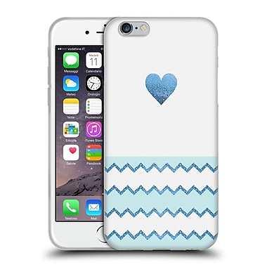 Official Monika Strigel Avalon Heart Blue Soft Gel Case For Apple Iphone 6 / 6S