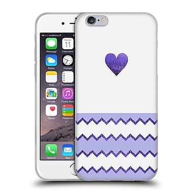 Official Monika Strigel Avalon Heart Lilac Soft Gel Case For Apple Iphone 6 / 6S