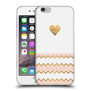 Official Monika Strigel Avalon Heart Peach Soft Gel Case For Apple Iphone 6 / 6S