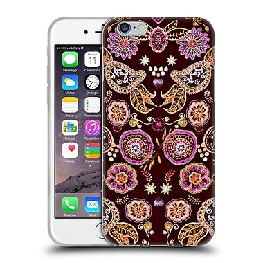 Official Monika Strigel Bring Me Flowers Black Pink Soft Gel Case For Apple Iphone 6 / 6S