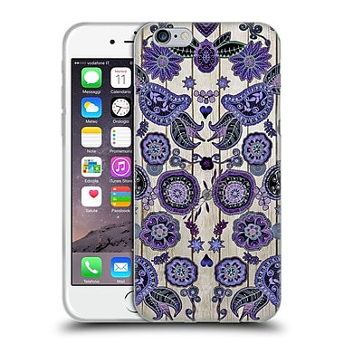 Official Monika Strigel Bring Me Flowers 3 Dark Purple Soft Gel Case For Apple Iphone 6 / 6S