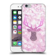 Official Monika Strigel Champagne Glitters 1 Deer Pink Soft Gel Case For Apple Iphone 6 / 6S