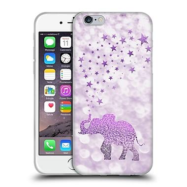 Official Monika Strigel Champagne Glitters 1 Happy Elephant Purple Soft Gel Case For Apple Iphone 6 / 6S