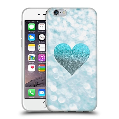 Official Monika Strigel Champagne Glitters 2 Heart Aqua Soft Gel Case For Apple Iphone 6 / 6S