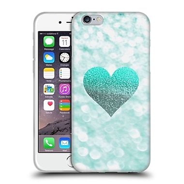 Official Monika Strigel Champagne Glitters 2 Heart Mint Soft Gel Case For Apple Iphone 6 / 6S