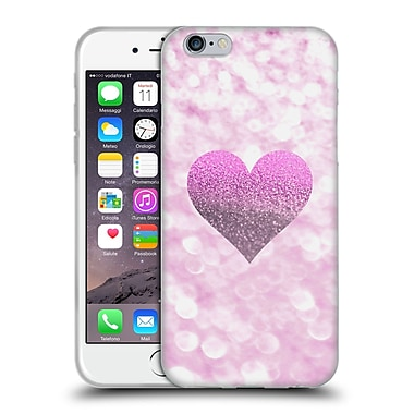 Official Monika Strigel Champagne Glitters 2 Heart Pink Soft Gel Case For Apple Iphone 6 / 6S