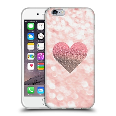 Official Monika Strigel Champagne Glitters 2 Heart Rose Soft Gel Case For Apple Iphone 6 / 6S