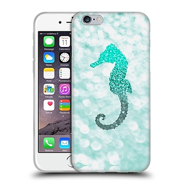 Official Monika Strigel Champagne Glitters 2 Seahorse Mint Soft Gel Case For Apple Iphone 6 / 6S