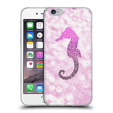 Official Monika Strigel Champagne Glitters 2 Seahorse Pink Soft Gel Case For Apple Iphone 6 / 6S