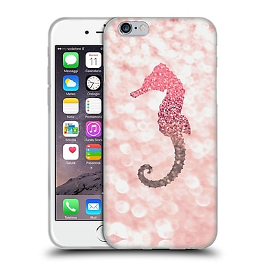 Official Monika Strigel Champagne Glitters 2 Seahorse Rose Soft Gel Case For Apple Iphone 6 / 6S