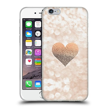 Official Monika Strigel Champagne Gold Heart Soft Gel Case For Apple Iphone 6 / 6S